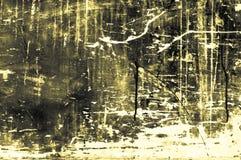 Stara scratchy drewniana deska z kolorami i kredy głownie kolorem żółtym Obraz Stock