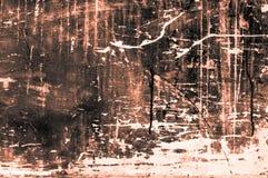 Stara scratchy drewniana deska z kolorami i kredy głownie pomarańcze Obrazy Stock