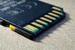 Stara SD pamięci karta Zdjęcie Royalty Free
