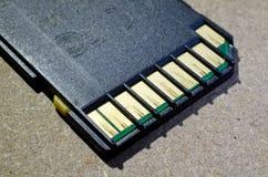 Stara SD pamięci karta Zdjęcie Stock