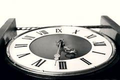 stara się blisko zegara Fotografia Stock