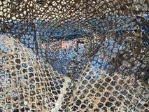 Stara sieć rybacka w schronieniu zdjęcia royalty free
