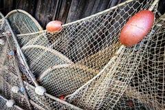 stara sieci rybackich Fotografia Royalty Free