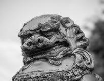 Stara singha lwa statua Zdjęcie Royalty Free