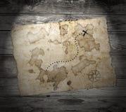 Stara skarb mapa Obrazy Stock