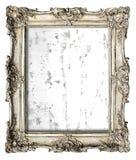 Stara srebro rama z pustą grunge kanwą Zdjęcia Stock