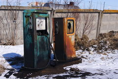 stara stacja benzynowa Fotografia Royalty Free