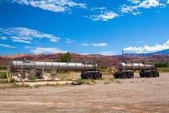 Stara stacja benzynowa w Moab Zdjęcia Stock