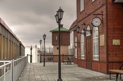 Stara stacja kolejowa Zdjęcia Royalty Free