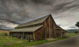 Stara stajnia, Panoramiczny koloru wizerunek Fotografia Royalty Free