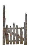 Stara Starzejąca się Wietrzejąca Wiejska Rujnująca Popielata Drewniana brama, Odosobnionej Szarej drewno ogródu ogrodzenia bramy  Zdjęcia Royalty Free