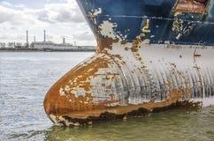Stara statek łuska z szkic oceną obrazy stock