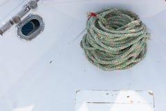 Stara statek arkana na jachtu pokładzie Obrazy Stock