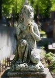 Stara statua na grób Zdjęcie Royalty Free
