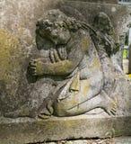 Stara statua na grób Obrazy Stock