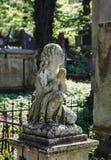 Stara statua na grób w Lviv Zdjęcie Stock