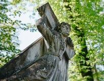 Stara statua na grób w Lviv Obrazy Stock