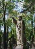Stara statua na grób w Lviv Obrazy Royalty Free