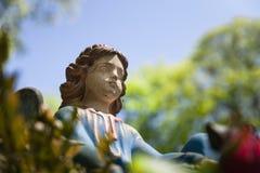 Stara statua na grób w Lviv Fotografia Stock