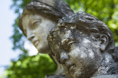 Stara statua na grób w Lviv Fotografia Royalty Free