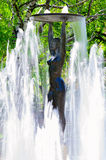 Stara statua w parku miasteczko Hissar w Bułgaria Zdjęcie Stock