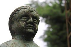 Stara statua z zielonymi brzmieniami Obraz Stock