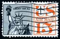 stara stemplowa posąg wolności obraz royalty free