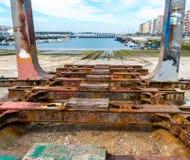 Stara stoczni rampa disused Obrazy Royalty Free