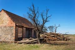 stara stodoła Stos łupka zbudować gospodarstwa Fotografia Royalty Free