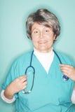 stara szczęśliwa pielęgniarka zdjęcie stock