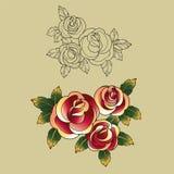 Stara szkoła tatuażu symbole ilustracji