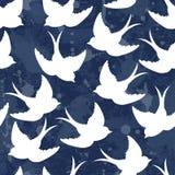 Stara szkoła wzór z ptakami ilustracja wektor