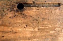 Stara szkoła drewniany pulpit Obraz Royalty Free
