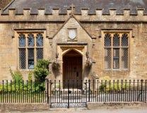 Stara szkoła w Nether Komptonowskim, Dorset, Anglia, widok Zdjęcie Royalty Free