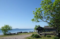 Stara szwedzka wioska rybacka Fotografia Royalty Free