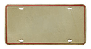 Stara tablica rejestracyjna Obraz Stock