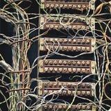 stara tablica rozdzielcza telefon Obraz Stock