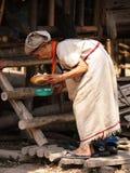 Stara Tajlandzka kobieta Obrazy Royalty Free