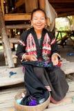 Stara Tajlandzka kobieta z wielkimi benclami Obraz Stock