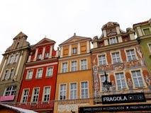 Stara Targowego kwadrata architektura z kolorowymi budynkami Zdjęcia Royalty Free
