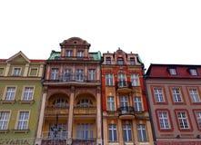 Stara Targowego kwadrata architektura z kolorowymi budynkami Obraz Royalty Free