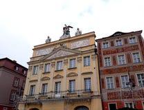 Stara Targowego kwadrata architektura z kolorowymi budynkami Obrazy Royalty Free