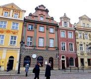 Stara Targowego kwadrata architektura z kolorowymi budynkami Zdjęcia Stock