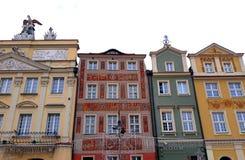 Stara Targowego kwadrata architektura z kolorowymi budynkami Fotografia Royalty Free