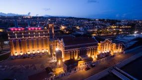 Stara Tejo elektrownia, muzeum i sztuk wydarzeń miejsce wydarzenia na bankach Tagus rzeka w Belem, Portugalia Maj 2016 Zdjęcia Stock