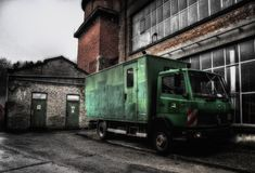 Stara Tekstylna fabryka, Pepinster, Belgia fotografia royalty free