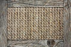 Stara tkanina w drewnianej ramie obraz royalty free