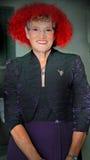 Stara Uśmiechnięta Red Hat dama Fotografia Stock