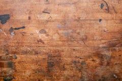 Stara używać drewniana powierzchnia Fotografia Royalty Free