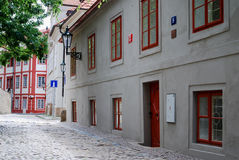 Stara ulica blisko Praga kasztelu obraz stock